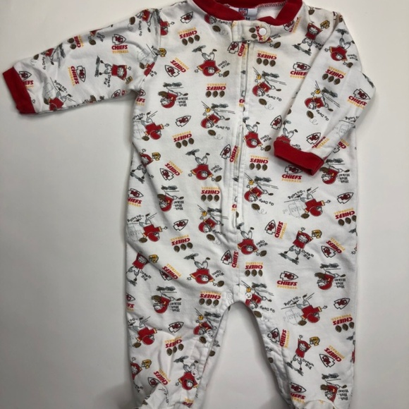 sports shoes cfd3c d30bd NFL KC Chiefs - NB 3-6 Mos - Footed PJ Unisex (F)
